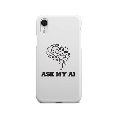 Image of wc-fulfillment Phone Case iPhone Xr Ask My AI | Super Slim Phone Case