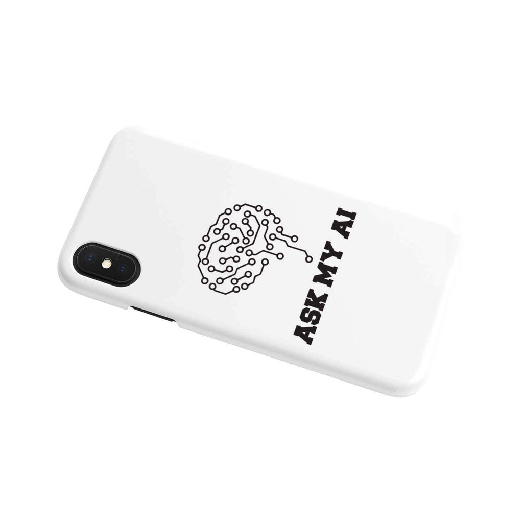 wc-fulfillment Phone Case iPhone Xs Ask My AI | Super Slim Phone Case