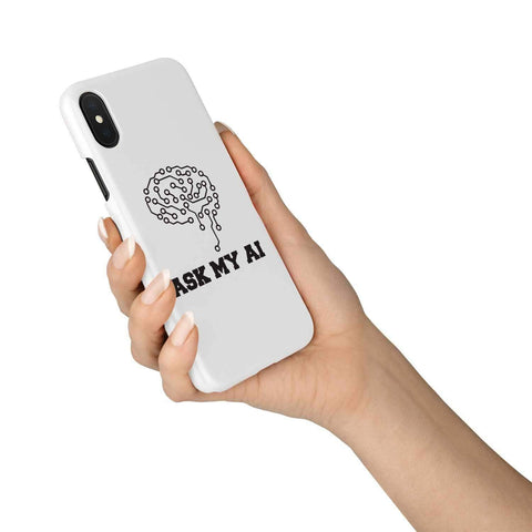 Image of wc-fulfillment Phone Case iPhone Xs Ask My AI | Super Slim Phone Case