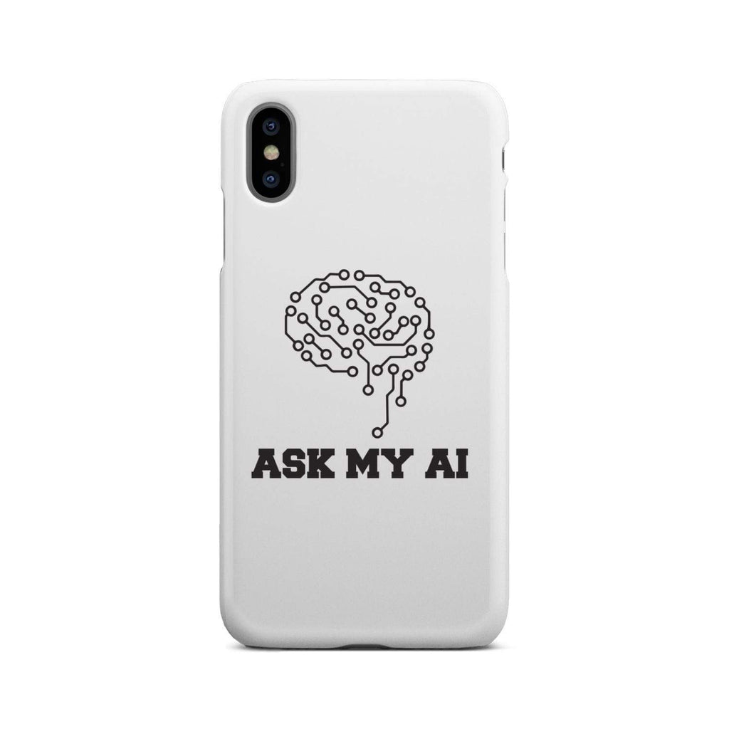 wc-fulfillment Phone Case iPhone Xs Max Ask My AI | Super Slim Phone Case