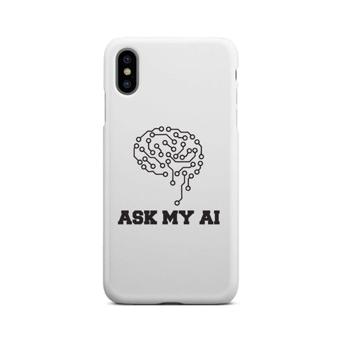 Image of wc-fulfillment Phone Case iPhone Xs Max Ask My AI | Super Slim Phone Case