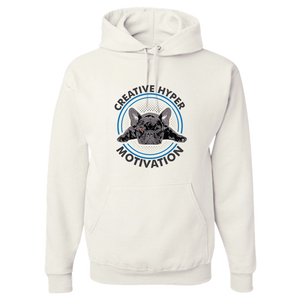 PrintTech Adult Hoodie S / White CREATIVE HYPER MOTIVATION | Adult Hoodie