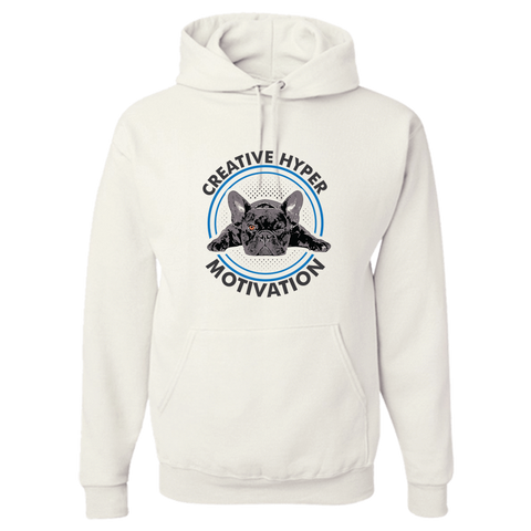 Image of PrintTech Adult Hoodie S / White CREATIVE HYPER MOTIVATION | Adult Hoodie