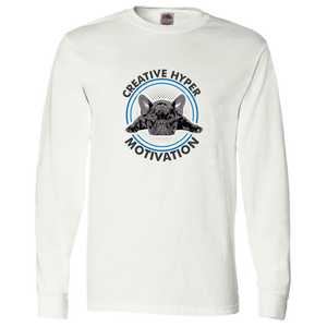 PrintTech Adult Long Sleeve Tee S / White CREATIVE HYPER MOTIVATION | Adult Long Sleeve Tee
