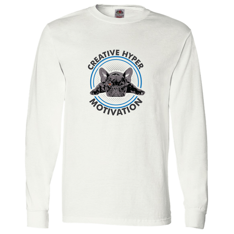 Image of PrintTech Adult Long Sleeve Tee S / White CREATIVE HYPER MOTIVATION | Adult Long Sleeve Tee