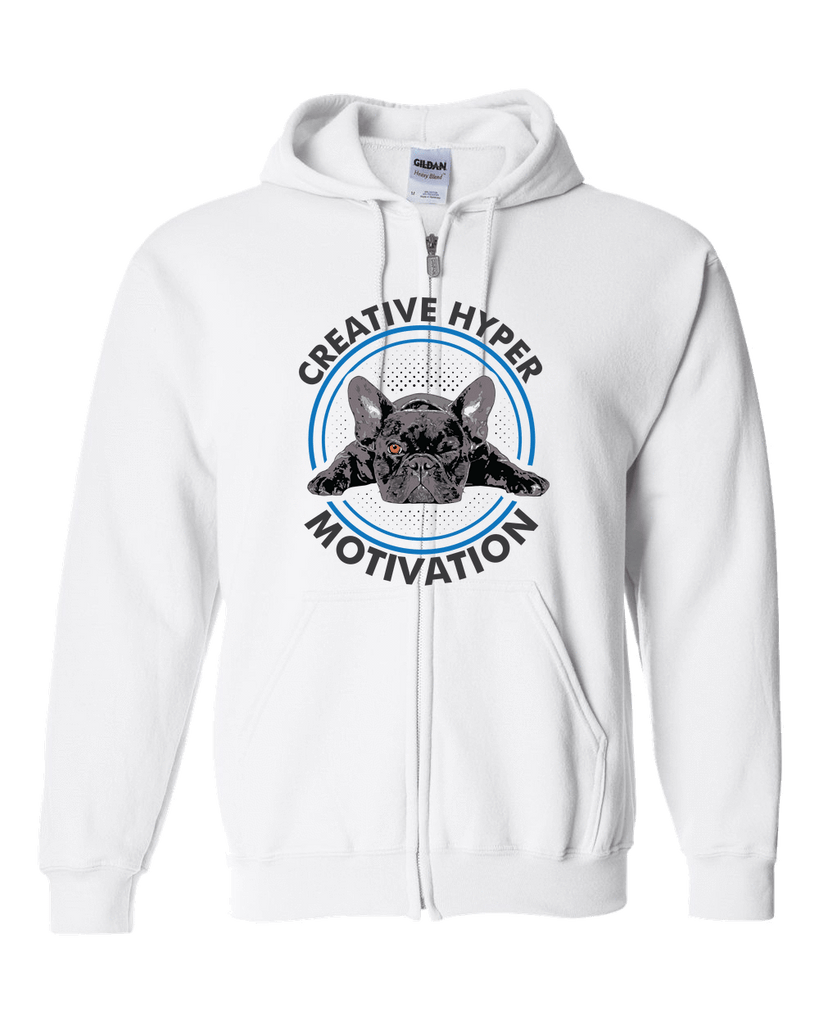 PrintTech Adult Zipper Hoodie S / White CREATIVE HYPER MOTIVATION | Adult Zipper Hoodie