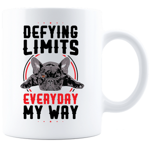 PrintTech Coffee Mug - White Sublimated Only 11oz / White DEFYING LIMITS, EVERYDAY, MY WAY | Coffee Mug - White