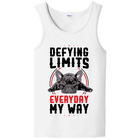 PrintTech Unisex Tank Top S / White DEFYING LIMITS, EVERYDAY, MY WAY | Unisex Tank Top