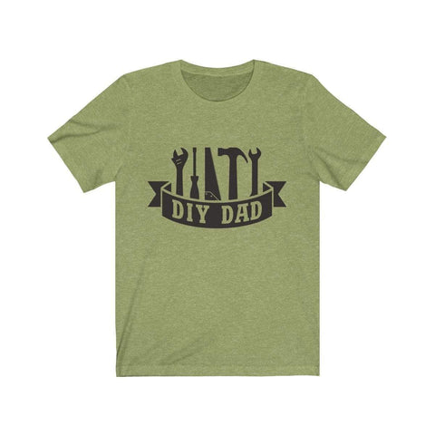 Image of Printify T-Shirt Heather Green / XS DIY Dad | Unisex Jersey Short Sleeve Tee
