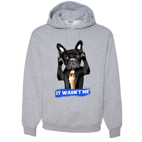 PrintTech Adult Hoodie S / Athletic Heather FRENCH BULLDOG - Adult Hoodie