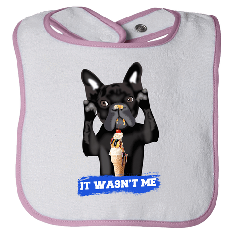 Image of PrintTech Bibs OS / Cyber Pink FRENCH BULLDOG | Bibs