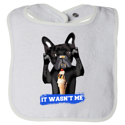 Image of PrintTech Bibs OS / White FRENCH BULLDOG | Bibs