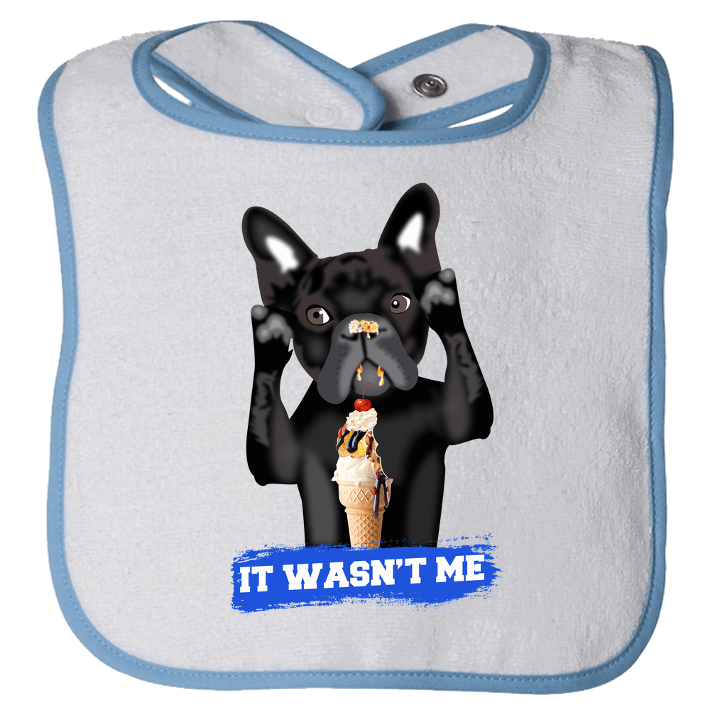 PrintTech Bibs OS / Light Blue FRENCH BULLDOG | Bibs
