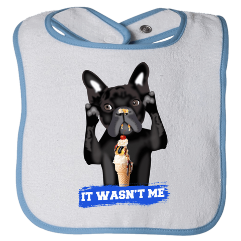 Image of PrintTech Bibs OS / Light Blue FRENCH BULLDOG | Bibs