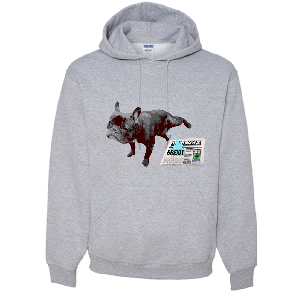 PrintTech Adult Hoodie S / Athletic Heather FRENCH BULLDOG BREXIT | Adult Hoodie