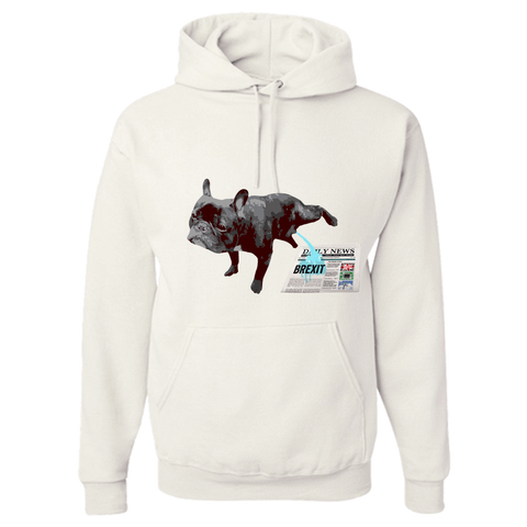 PrintTech Adult Hoodie S / White FRENCH BULLDOG BREXIT | Adult Hoodie