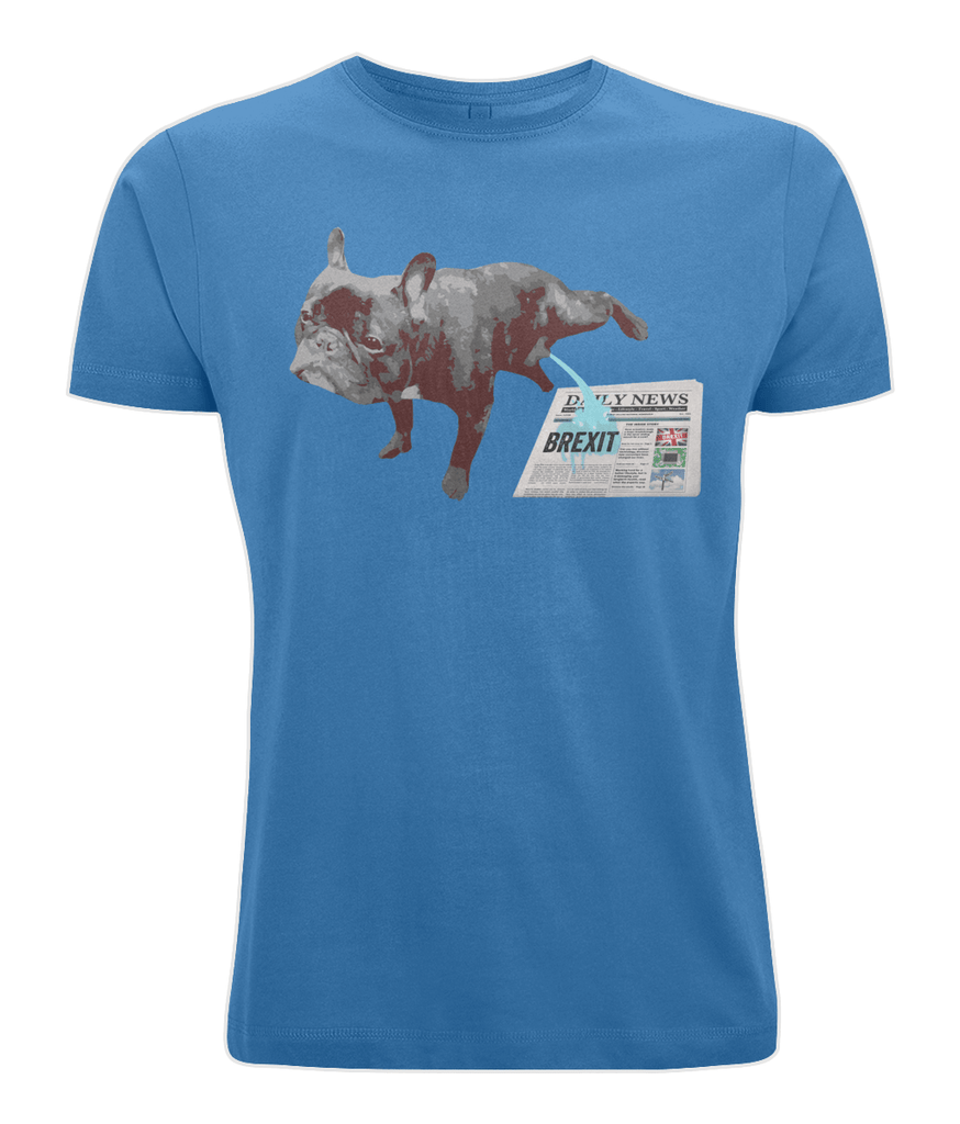 Fuzzbooster Clothing Bright Blue / X-Small FRENCH BULLDOG BREXIT | Classic Jersey Men's/Unisex T-Shirt