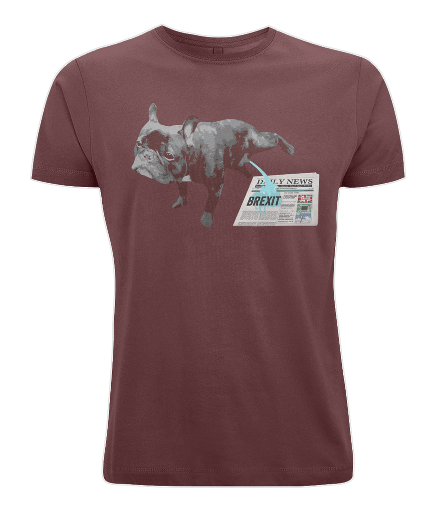 Fuzzbooster Clothing Burgundy / X-Small FRENCH BULLDOG BREXIT | Classic Jersey Men's/Unisex T-Shirt