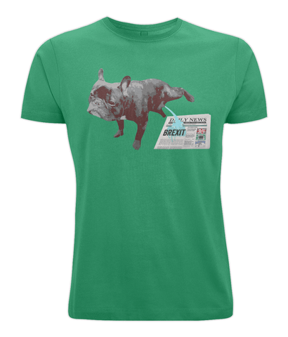 Image of Fuzzbooster Clothing Kelly Green / X-Small FRENCH BULLDOG BREXIT | Classic Jersey Men's/Unisex T-Shirt