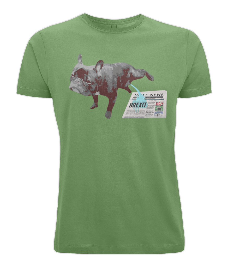 Fuzzbooster Clothing Light Green / X-Small FRENCH BULLDOG BREXIT | Classic Jersey Men's/Unisex T-Shirt