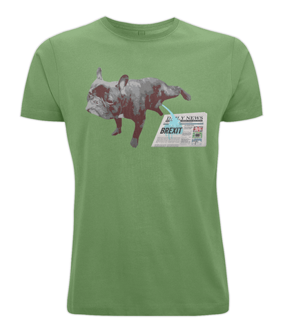 Image of Fuzzbooster Clothing Light Green / X-Small FRENCH BULLDOG BREXIT | Classic Jersey Men's/Unisex T-Shirt