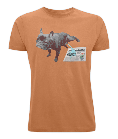 Image of Fuzzbooster Clothing Orange / X-Small FRENCH BULLDOG BREXIT | Classic Jersey Men's/Unisex T-Shirt