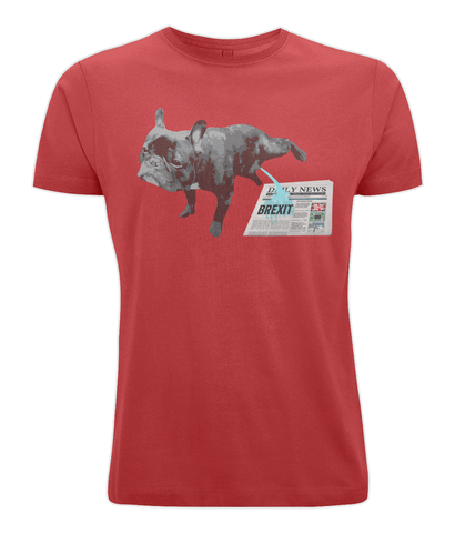 Image of Fuzzbooster Clothing Red / X-Small FRENCH BULLDOG BREXIT | Classic Jersey Men's/Unisex T-Shirt