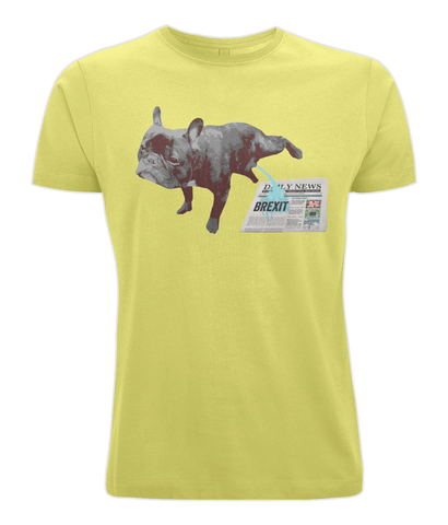 Image of Fuzzbooster Clothing Yellow / X-Small FRENCH BULLDOG BREXIT | Classic Jersey Men's/Unisex T-Shirt