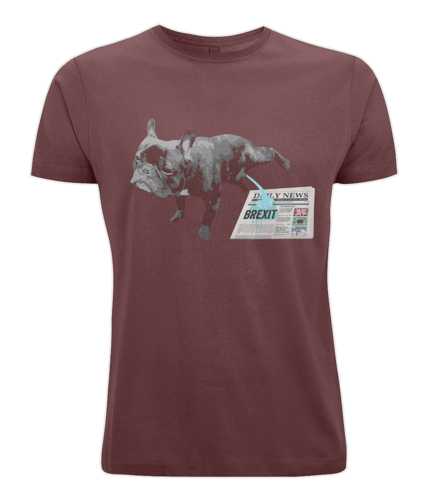 Fuzzbooster Clothing Burgundy / X-Small French Bulldog Brexit | Classic T-shirt