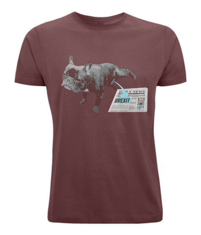 Image of Fuzzbooster Clothing Burgundy / X-Small French Bulldog Brexit | Classic T-shirt