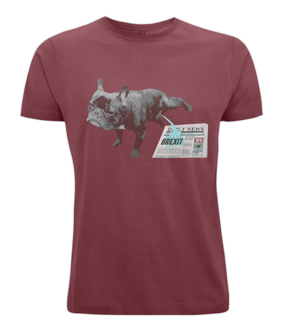Fuzzbooster Clothing Dark Red / X-Small French Bulldog Brexit | Classic T-shirt