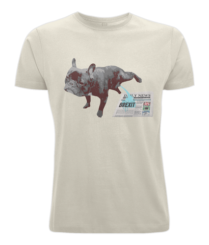 Fuzzbooster Clothing Ecru / X-Small French Bulldog Brexit | Classic T-shirt