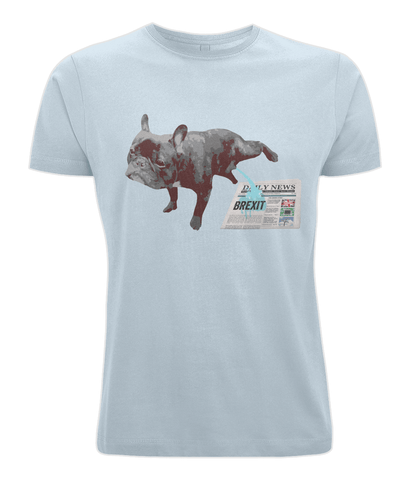 Image of Fuzzbooster Clothing Light Blue / X-Small French Bulldog Brexit | Classic T-shirt