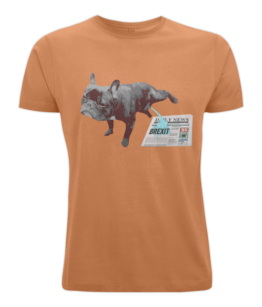 Fuzzbooster Clothing Orange / X-Small French Bulldog Brexit | Classic T-shirt