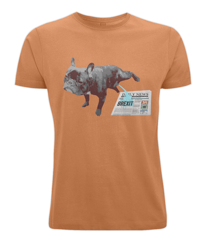 Image of Fuzzbooster Clothing Orange / X-Small French Bulldog Brexit | Classic T-shirt