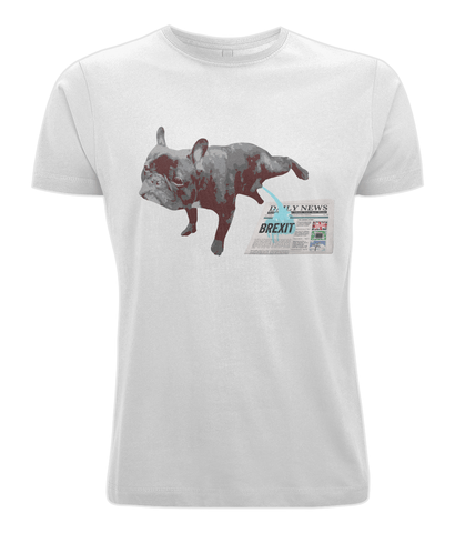 Image of Fuzzbooster Clothing White / X-Small French Bulldog Brexit | Classic T-shirt