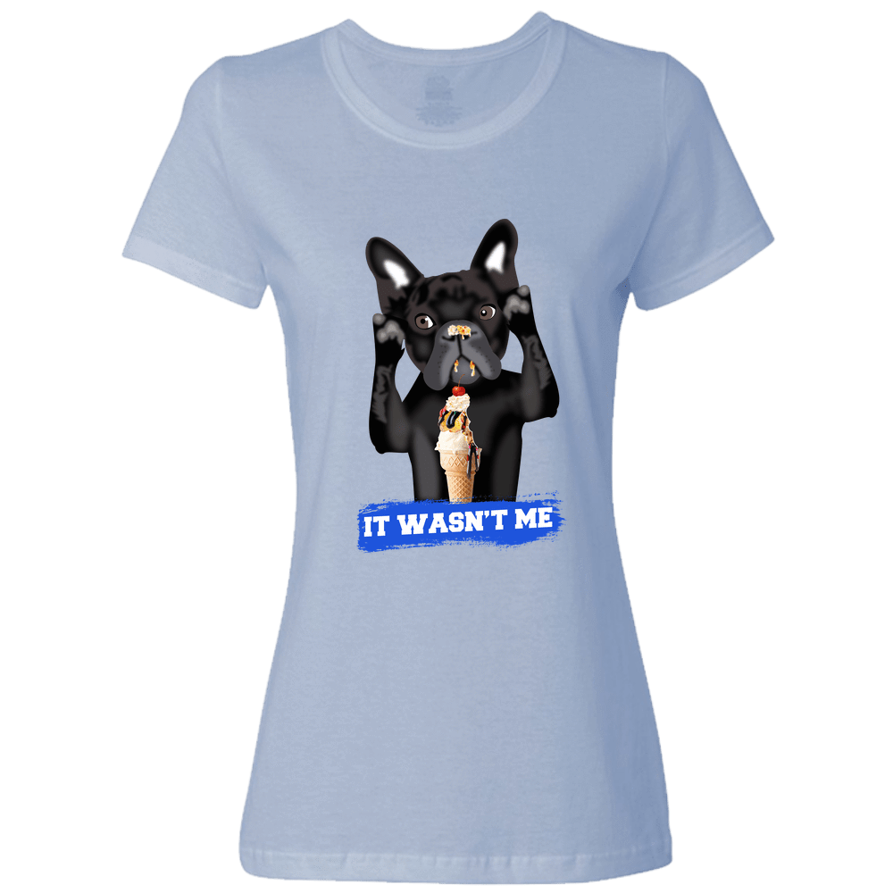 PrintTech Ladies Classic Tees S / Light Blue FRENCH BULLDOG | Ladies Classic Tees