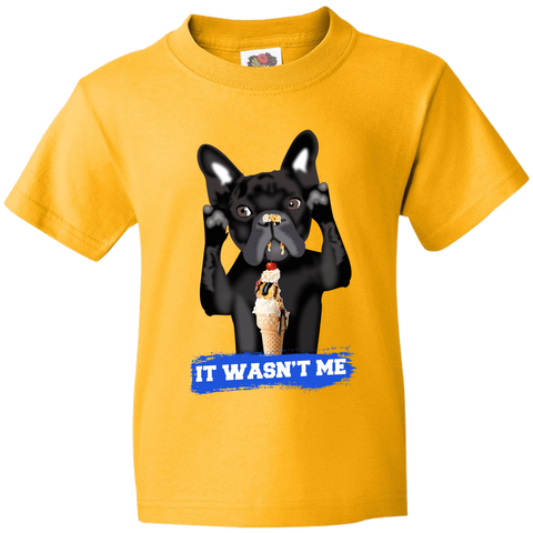 PrintTech Youth Tee YS / Gold FRENCH BULLDOG | Youth Tee