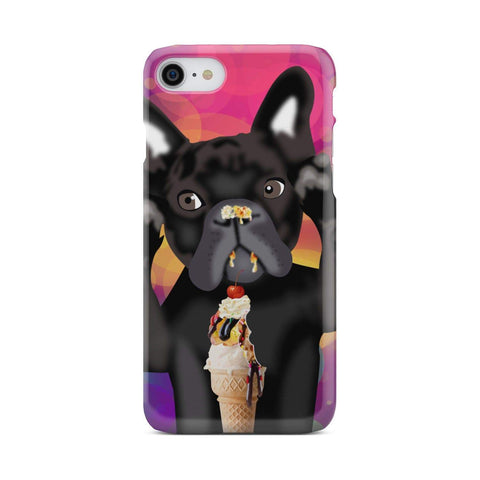 wc-fulfillment Phone Case iPhone 7 INNOCENT FRENCH BULLDOG | Pink Phone Case
