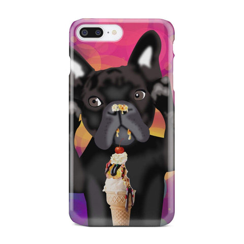 wc-fulfillment Phone Case iPhone 7 Plus INNOCENT FRENCH BULLDOG | Pink Phone Case