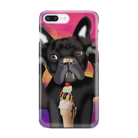 wc-fulfillment Phone Case iPhone 8 Plus INNOCENT FRENCH BULLDOG | Pink Phone Case
