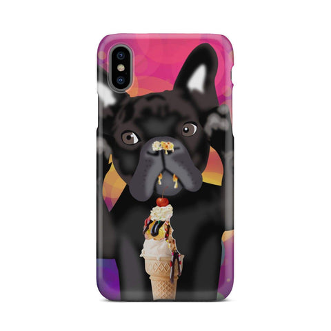 wc-fulfillment Phone Case iPhone X INNOCENT FRENCH BULLDOG | Pink Phone Case