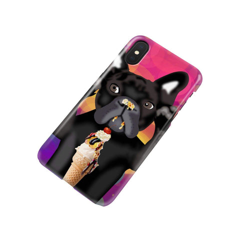 wc-fulfillment Phone Case iPhone Xs INNOCENT FRENCH BULLDOG | Pink Phone Case
