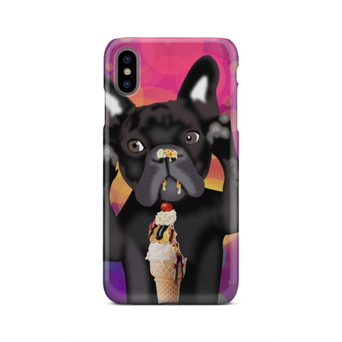 wc-fulfillment Phone Case iPhone Xs Max INNOCENT FRENCH BULLDOG | Pink Phone Case