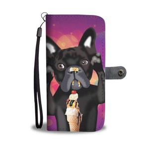 wc-fulfillment Wallet Case iPhone X / Xs INNOCENT FRENCH BULLDOG | Pink Wallet Phone Case