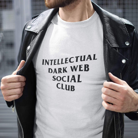 Image of wc-fulfillment Unisex T-Shirt S / White Intellectual Dark Web Social Club | White Unisex T-Shirt