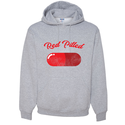 Image of PrintTech Adult Hoodie S / Athletic Heather RED PILLED | Adult Hoodie