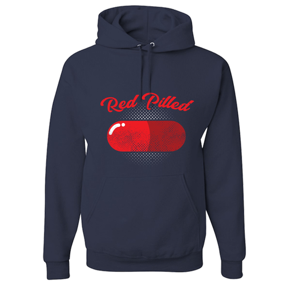 PrintTech Adult Hoodie S / Navy RED PILLED | Adult Hoodie
