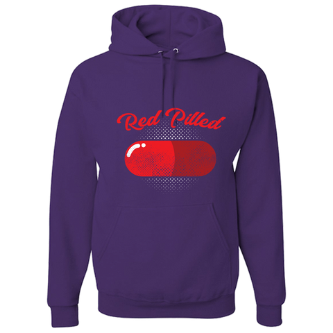 PrintTech Adult Hoodie S / Deep Purple RED PILLED | Adult Hoodie