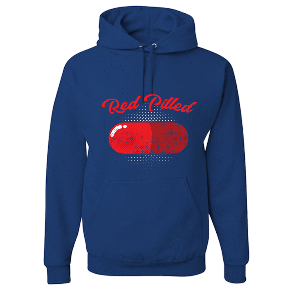 PrintTech Adult Hoodie S / Royal RED PILLED | Adult Hoodie